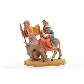 Fuga in Egitto 16x16 cm Fontanini s4