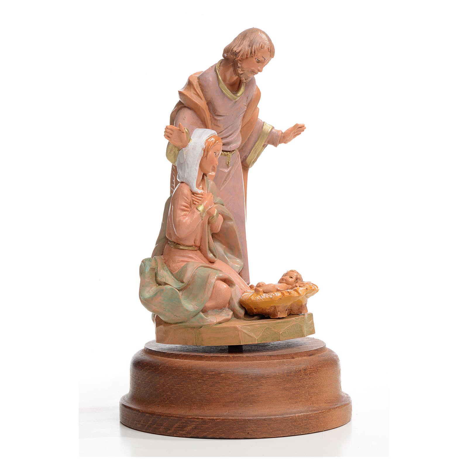 Natividad Fontanini cm 18 sobre base con carrillón 4