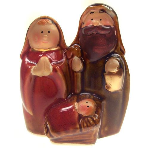 Statuette Sainte Famille 8 cm céramique 1