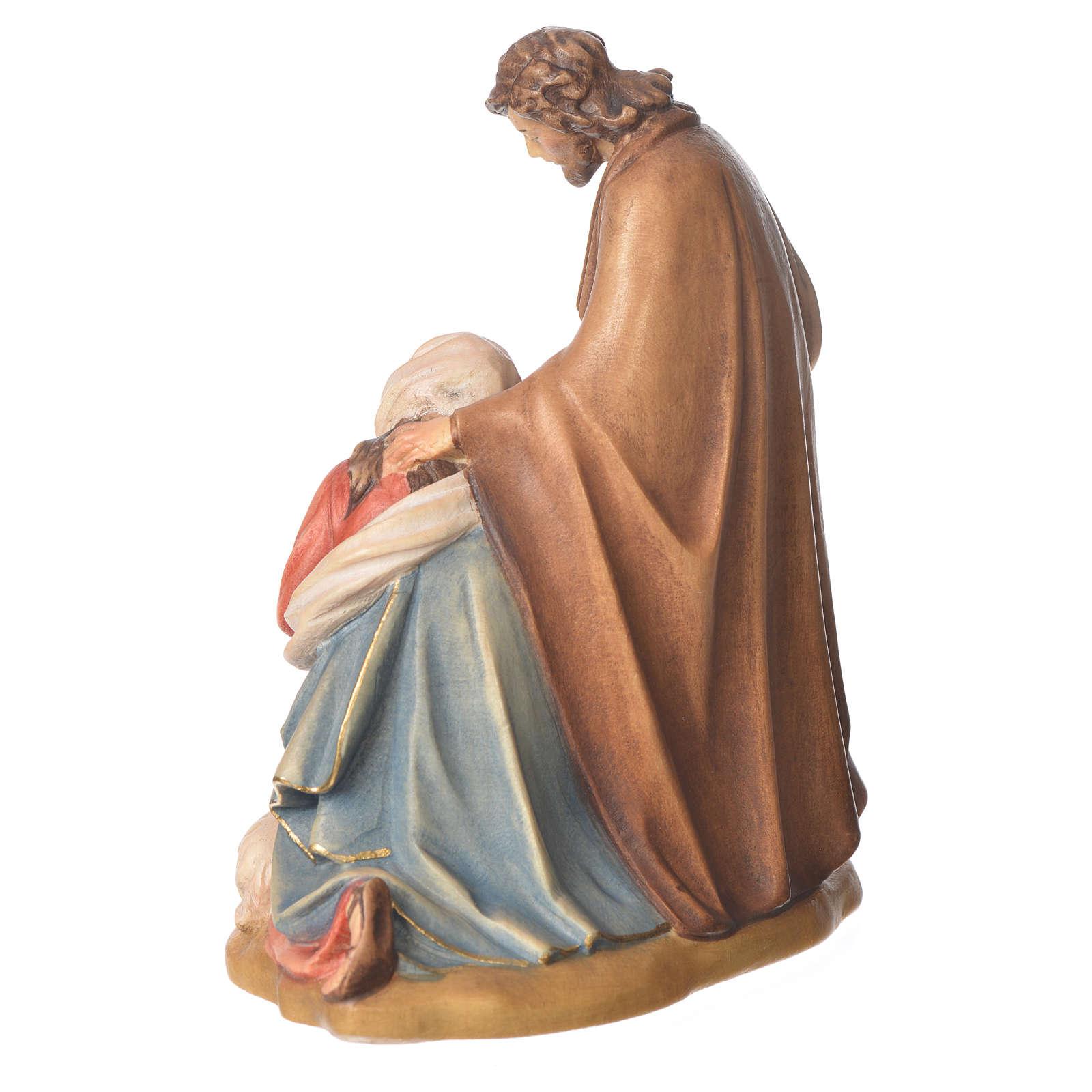 Sainte Famille avec mouton bois Valgardena peint 3