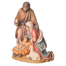 Sacra Famiglia con pecora legno Valgardena dipinto s2