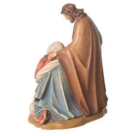 Sagrada Família com ovelha madeira Val Gardena pintada s3