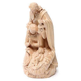 Holy Family group statue in Valgardena wood, natural wax s3