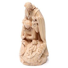 Sacra Famiglia gruppo legno Valgardena naturale cerato s3