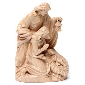 Sacra Famiglia gruppo legno Valgardena naturale cerato s4