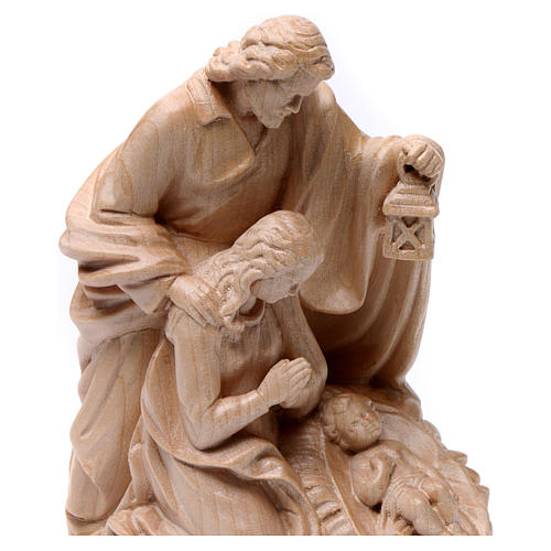 Holy Family group statue in Valgardena wood, natural wax 2