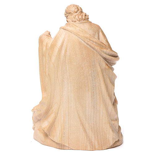 Holy Family group statue in Valgardena wood, natural wax 5