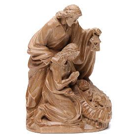 Nacimiento: Sagrada Familia de madera Valgardena patinada