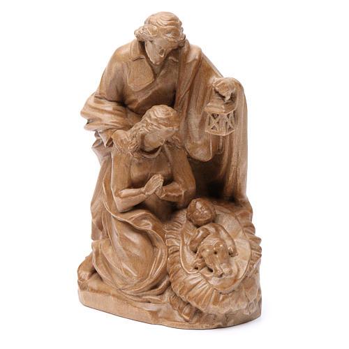 Sagrada Familia de madera Valgardena patinada 2