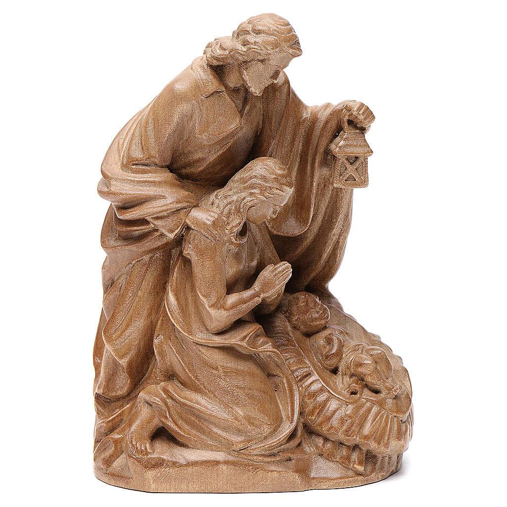 Sainte Famille 1 pièce bois Valgardena patiné 3