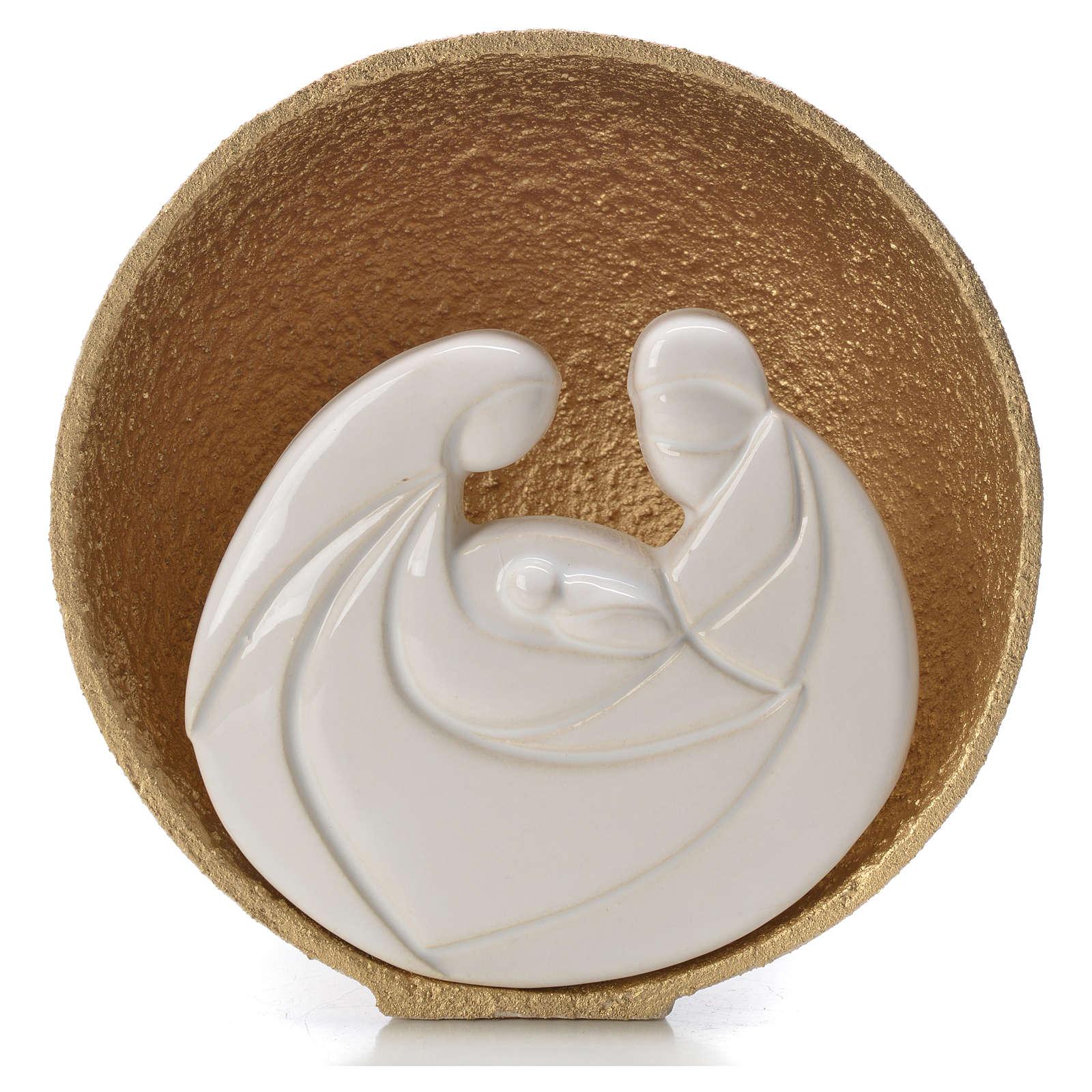 Presepe Perla Gold 14,5 cm argilla refrattaria 3