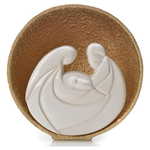 Presepe Perla Gold 14,5 cm argilla refrattaria 1