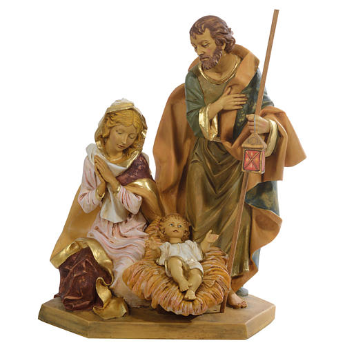 Nativité sur socle 65 cm Fontanini en résine 1