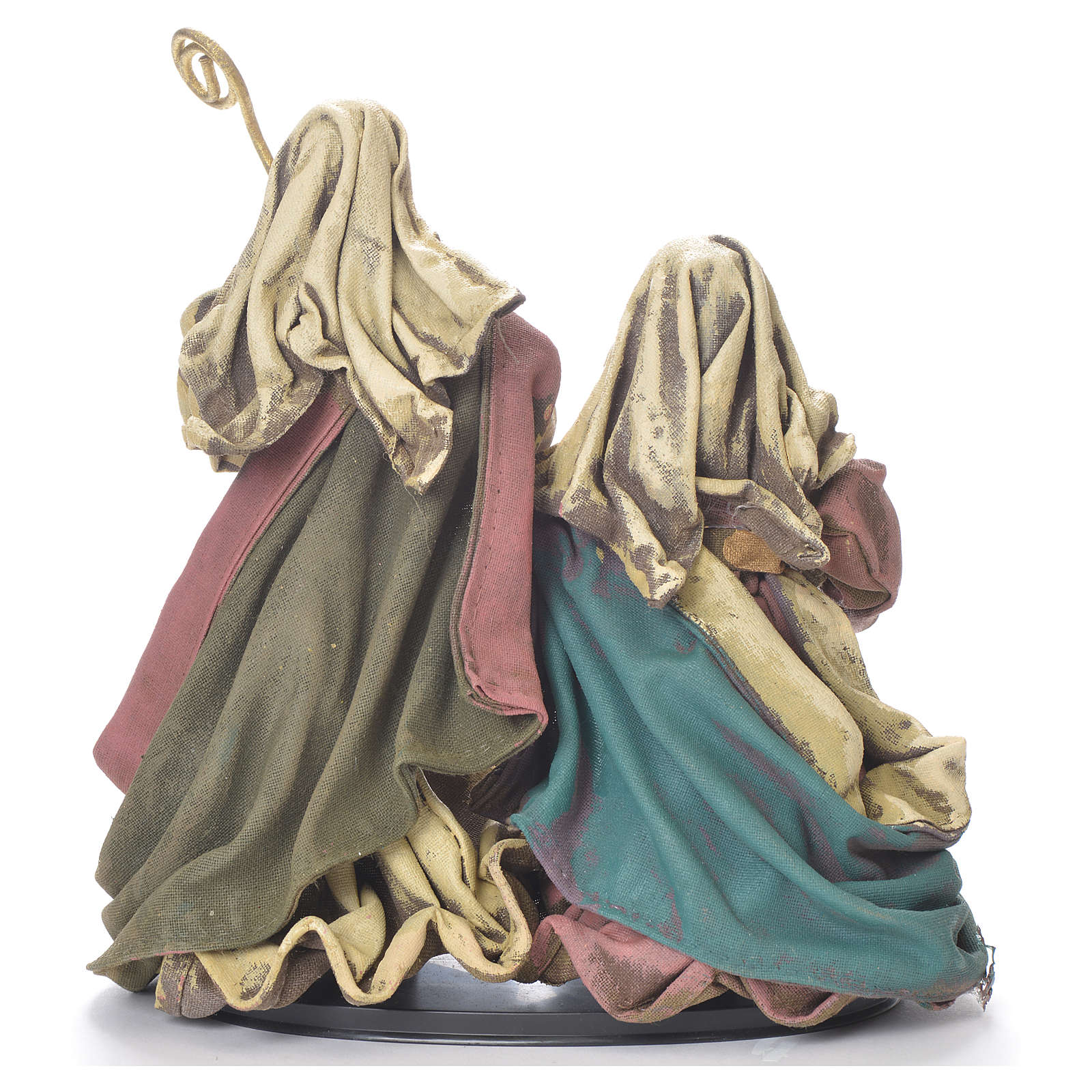 Nativity scene in resin and fabric, 25cm multicoloured 3