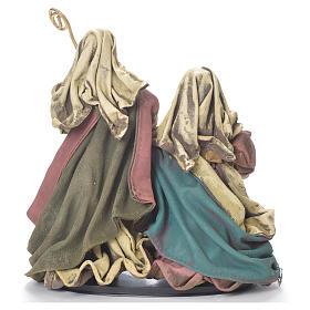 Nativity scene in resin and fabric, 25cm multicoloured s3