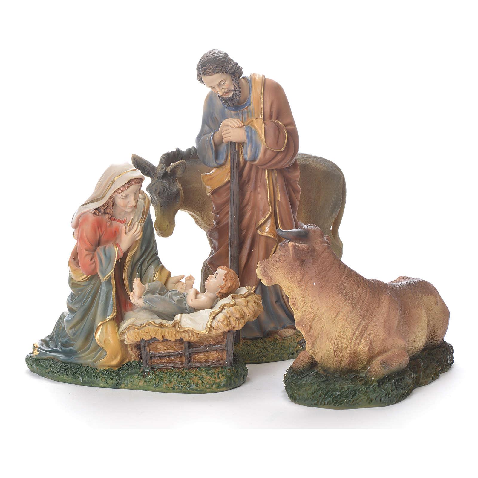 Nativité 20 cm résine avec animaux 3