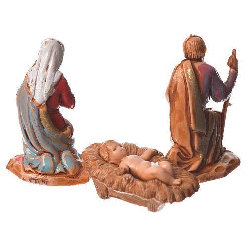 Natividad, 3 sujetos, para belén de Moranduzzo con estatuas de 3,5 cm 2