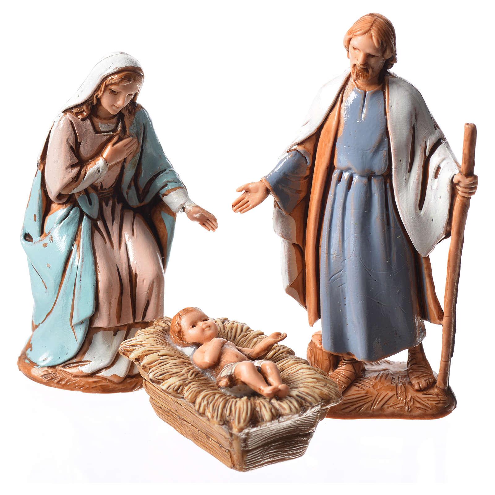 Natividad, 3 sujetos, para belén de Moranduzzo con estatuas de 6,5 cm 4