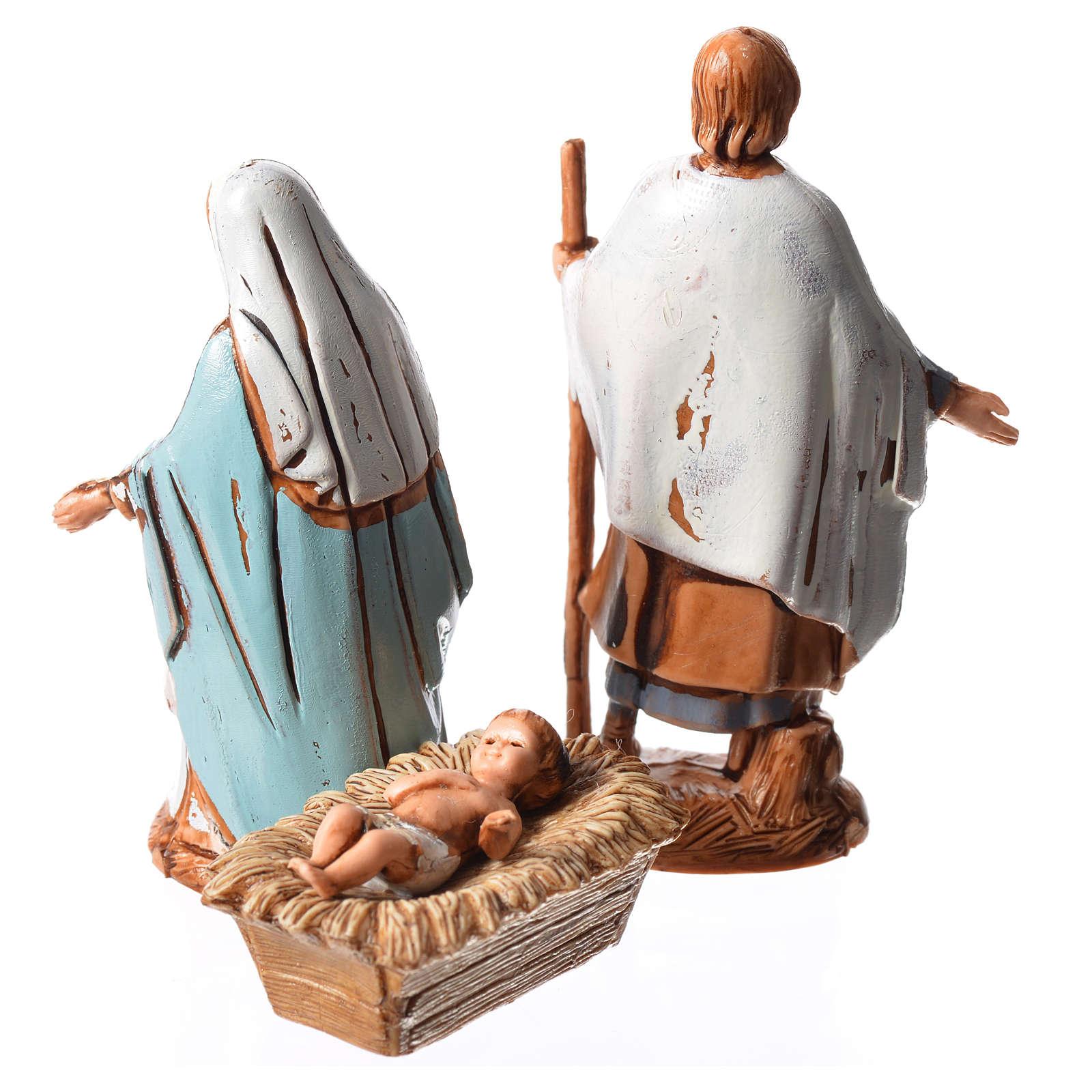 Sainte Famille 3 santons 6,5 cm crèche Moranduzzo 4