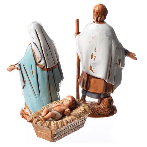 Sainte Famille 3 santons 6,5 cm crèche Moranduzzo 2