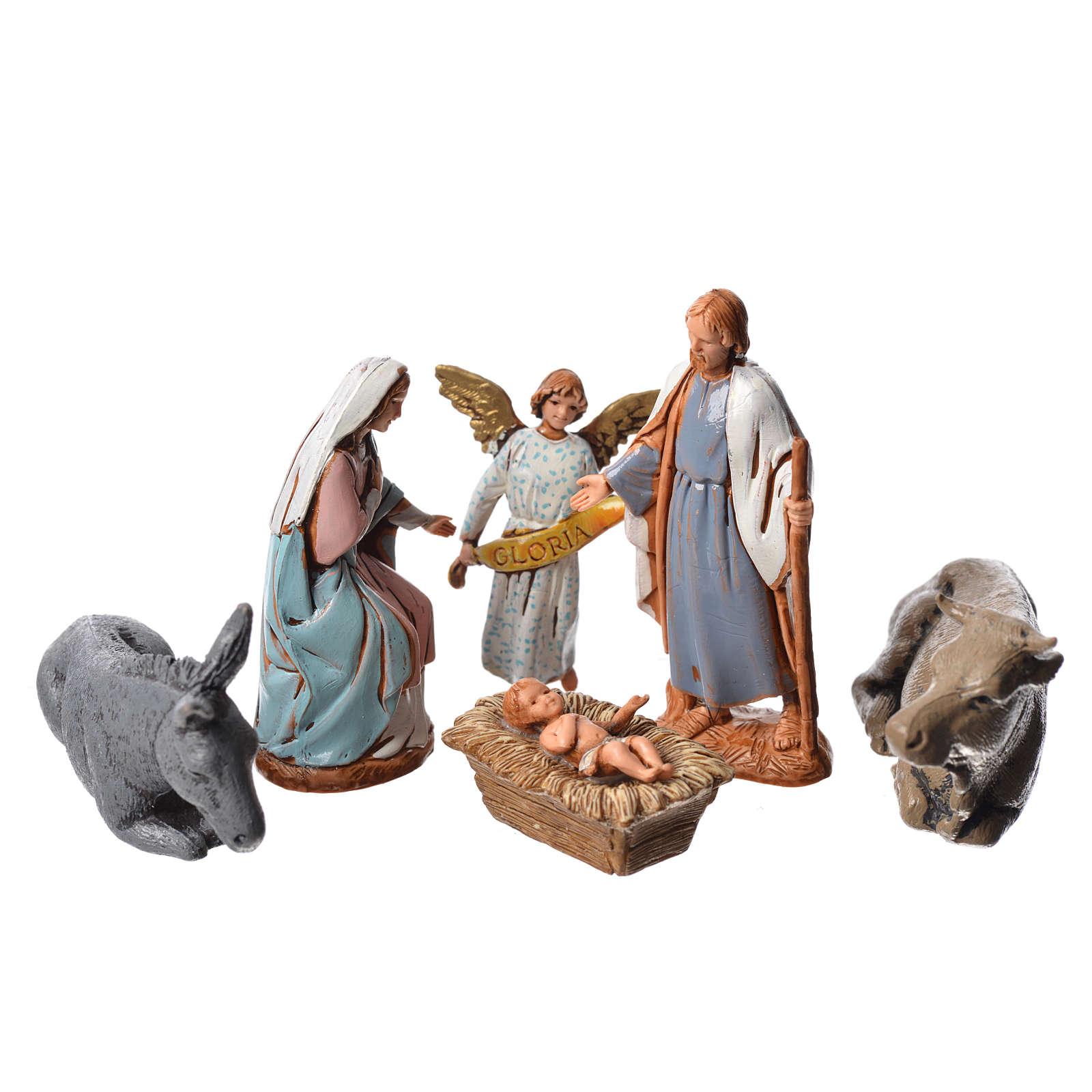 Crèche Moranduzzo 6,5cm, lot de 6 santons 4