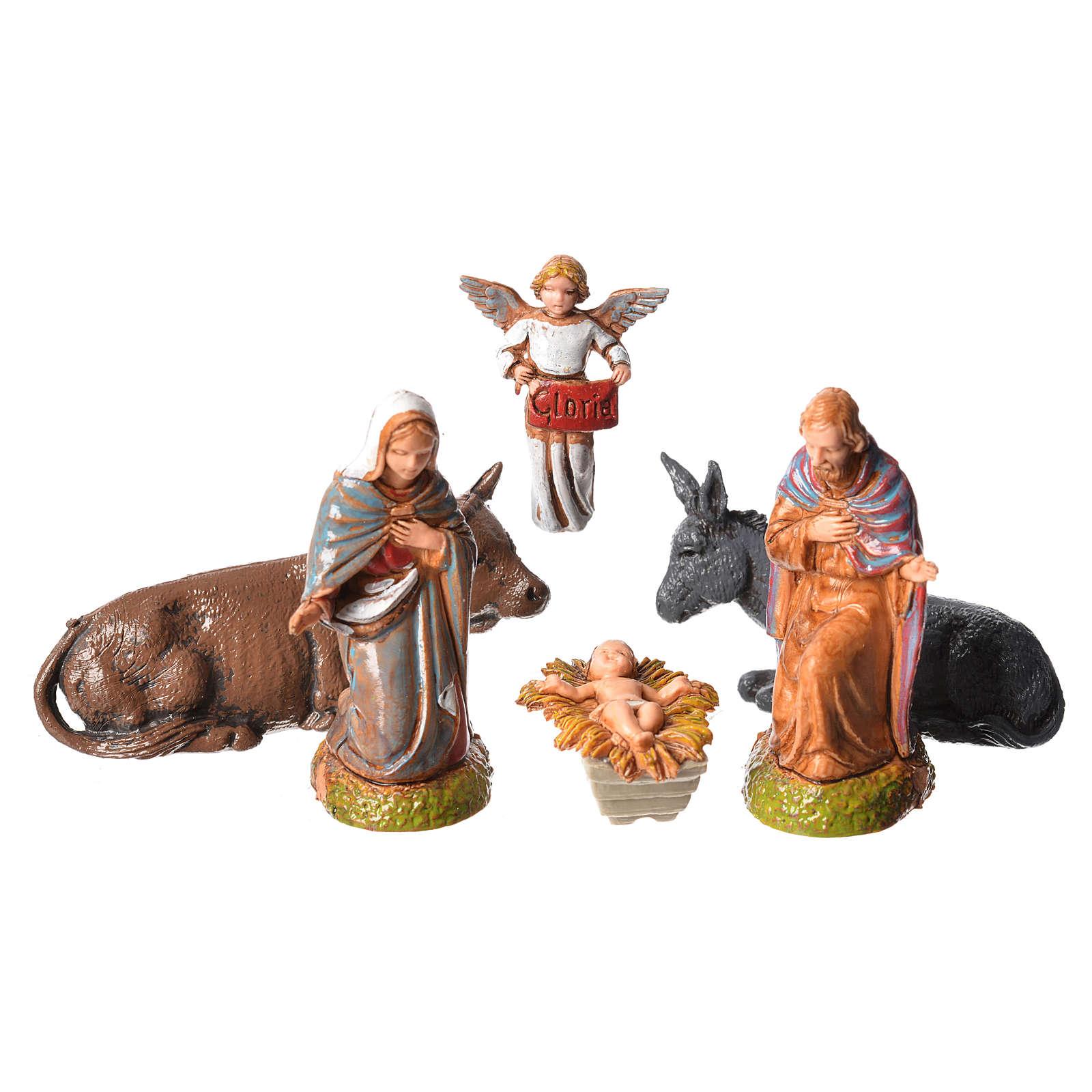 Nativité crèche 6 cm Moranduzzo 6 pcs 4
