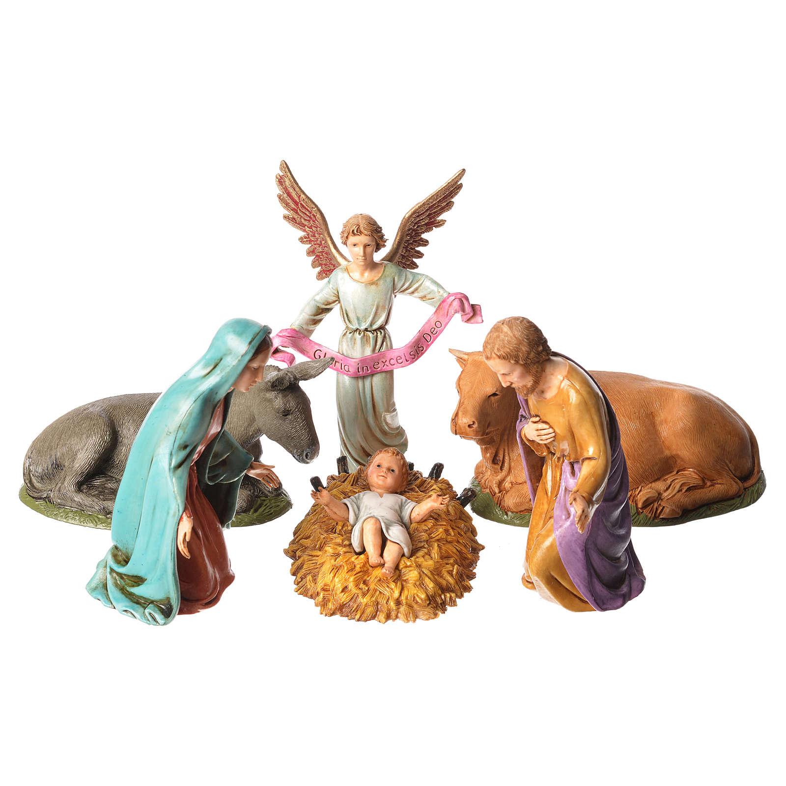 Święta Rodzina 12cm do szopki betlejemskiej Moranduzzo 6 elementów 4