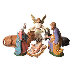 Nativité pour crèche de 12 cm 6 pcs Moranduzzo s1