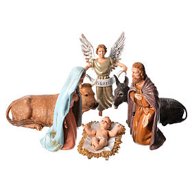 Moranduzzo nativity scene 12cm, 6 pieces s1