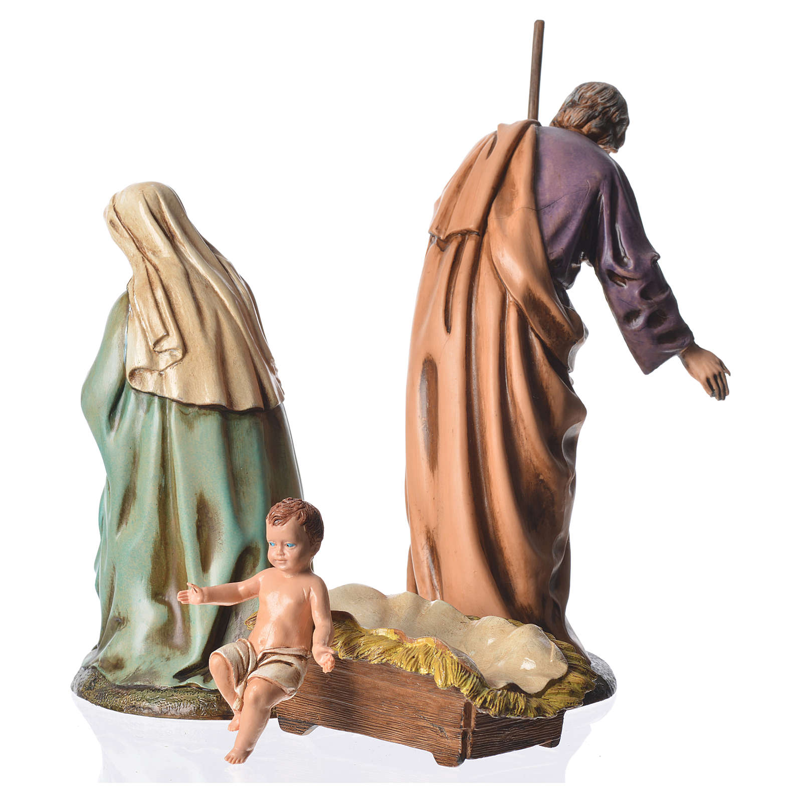 Nativity scene with 3 figurines, 16cm Moranduzzo 4