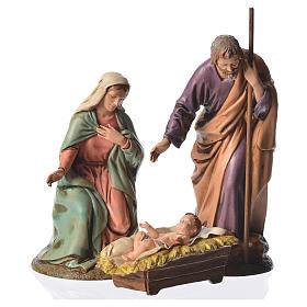Nativity scene with 3 figurines, 16cm Moranduzzo s1