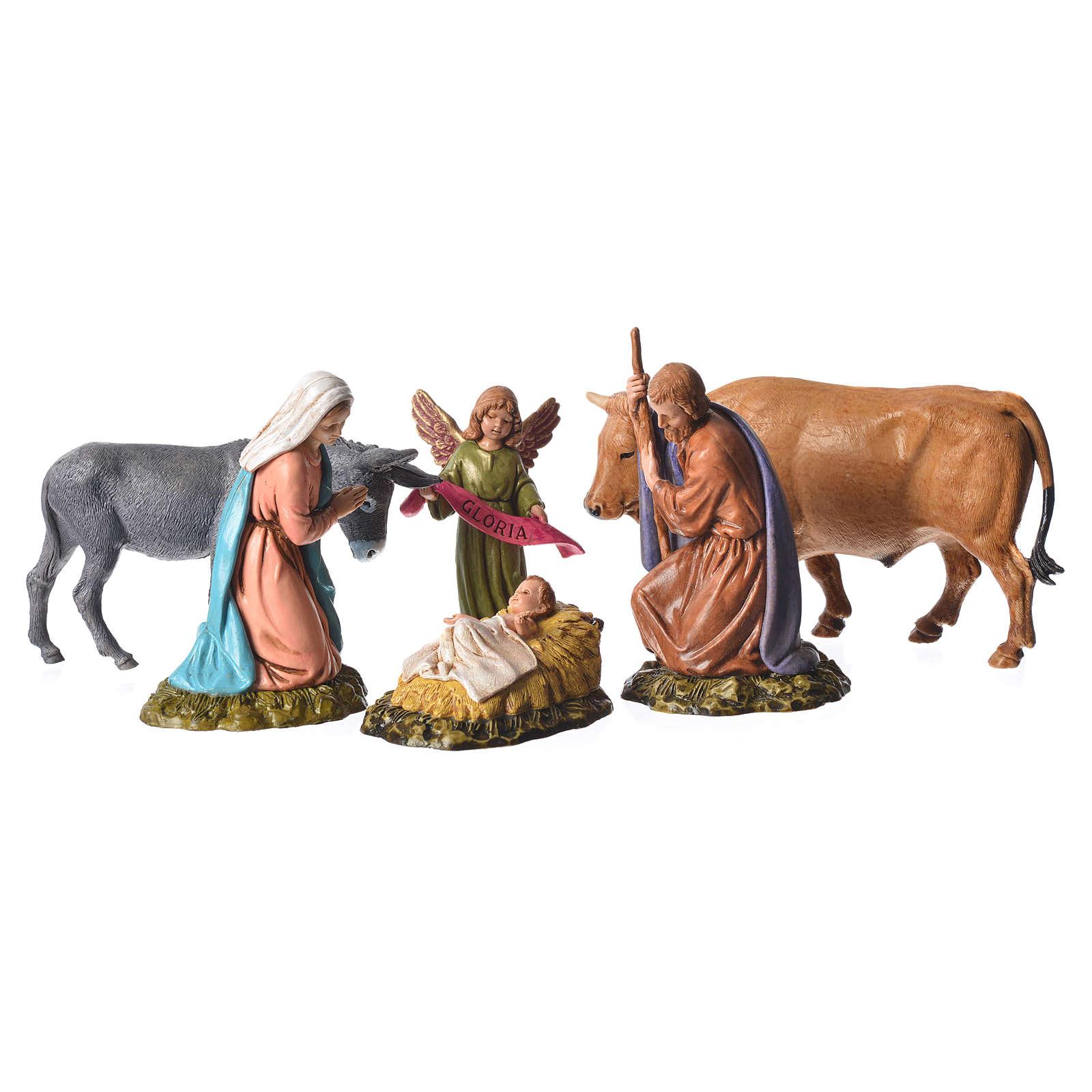 Natividad 11 cm belén Moranduzzo 6 figuras 4