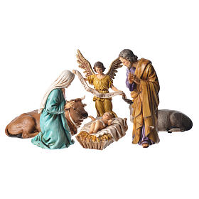Moranduzzo nativity scene 13cm, 6 pieces s1