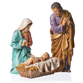 Nativity scene with 3 figurines, 13cm Moranduzzo s1
