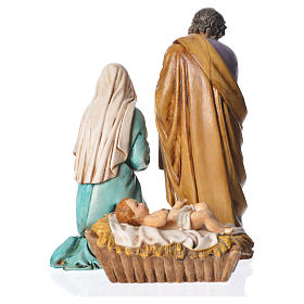 Nativity scene with 3 figurines, 13cm Moranduzzo s2