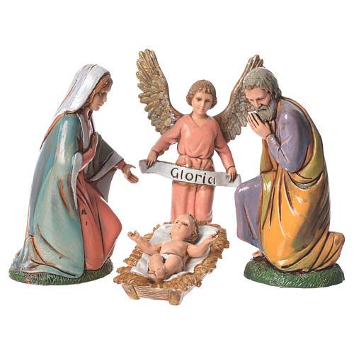 Natividad completa 6 figuras Moranduzzo 10 cm 2