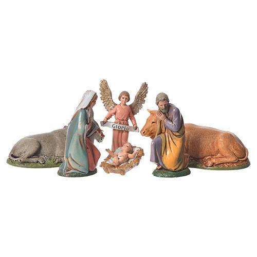 Natividade completa 6 peças para presépio Moranduzzo com figuras altura média 10 cm 1
