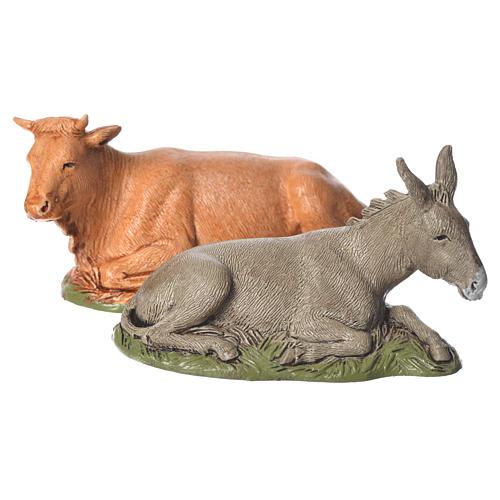 Natividade completa 6 peças para presépio Moranduzzo com figuras altura média 10 cm 3