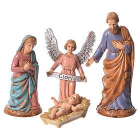 Natividad clásica 6 figuras 10 cm Moranduzzo s2