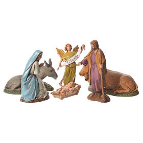 Nativity Scene figurines aged finish by Moranduzzo 10cm s1