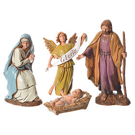 Nativity Scene figurines aged finish by Moranduzzo 10cm s2