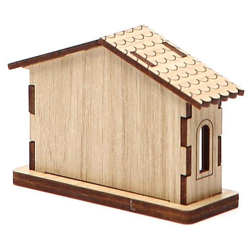 Mini belén natividad de madera 5