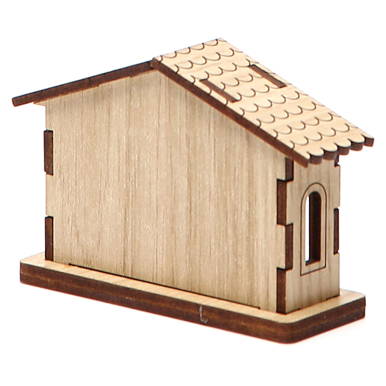 Mini presepe natività in legno 3
