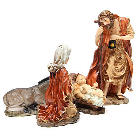 Nativity figurine in resin 32cm, soft colour, 5 statues s4