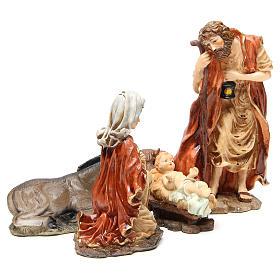 Święta Rodzina żywica 32cm delikatne kolory 5 figurek s4