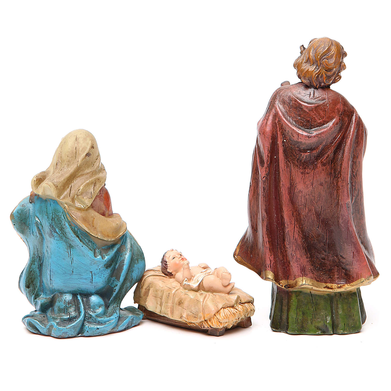 Nativity figurine in resin 15cm, multicoloured 3