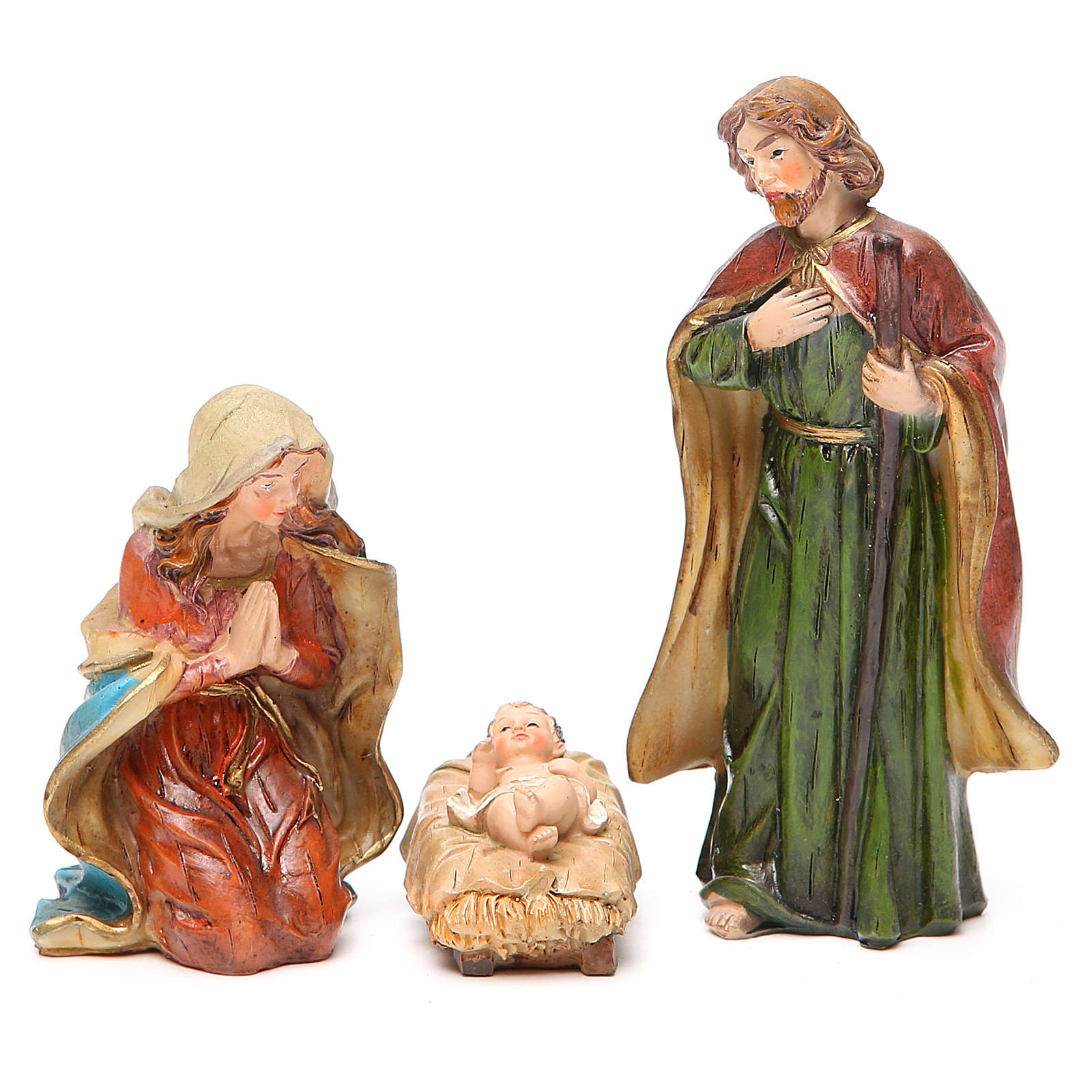 Nativity figurine in resin 15cm, multicoloured 3