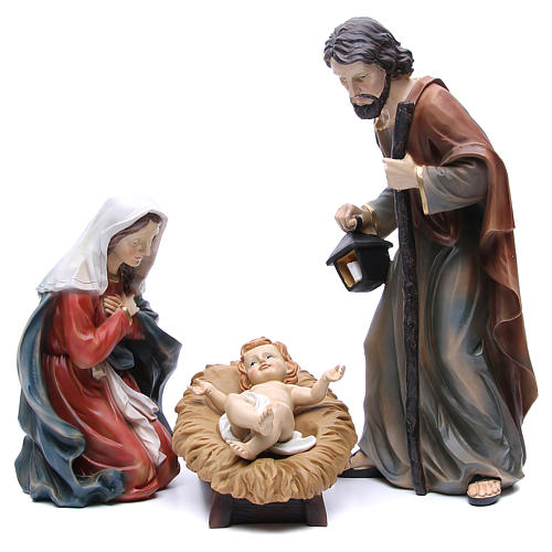 Nativity in resin with 3 figurines measuring 50cm 1