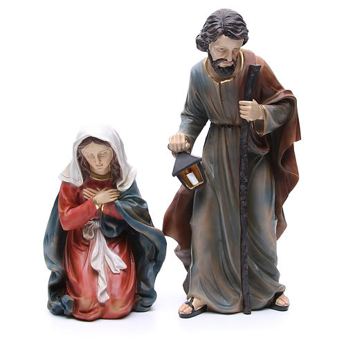 Nativity in resin with 3 figurines measuring 50cm 2