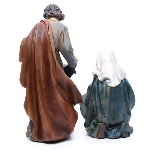 Nativity in resin with 3 figurines measuring 50cm 3
